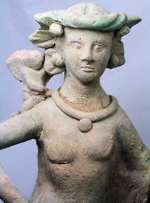 Large pottery figure of a woman - possibly Roman or Greek