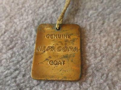 Vintage GENUINE ALPAGORA Coat WARM BUT NOT WEIGHTY TAG MEDAL Grammes Brass