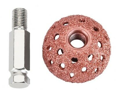 Car 55mm Tire Repair Grinding Head Coarse Grit Buffing Wheel with Linking Rod