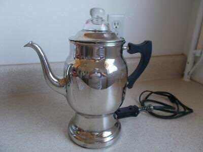 1912 Vintage Antique Coffee Pot Percolator Works Manning Bowman Hinged Lid 93