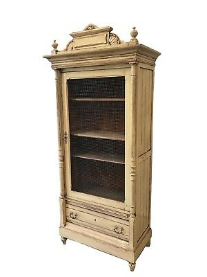 19th C. French Antique Bookcase Display Cabinet