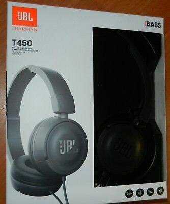 JBL T450  Wired Stereo Headphones Over-ear Pure Bass Sound