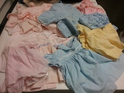 Vintage Lot Of 9 Pieces Infant Girl Clothing from 1950s to 1 year old