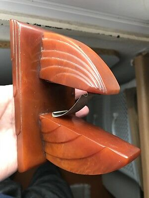Vintage Antique Old Carvacraft Bakelite Catalin Letter Rack