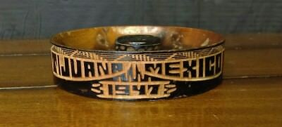 Vintage Antique Hand Carved Handmade Mexican Wooden Ashtray- Tijuana 1947
