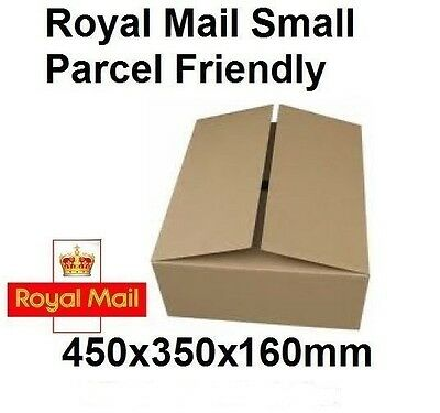 Strong Royal Mail Max Small Parcel PIP Size Cardboard Boxes 450x350x160mm Offer