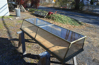 Antique Country Store 6' Candy/Cigar Counter Display Cabinet Glass on 4 Sides