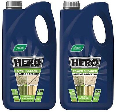 2 x 2.5L Paving Decking Path Drive Fence Cleaner Concentrate Ingredient Remove