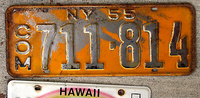 1955 New York Commercial License Plate