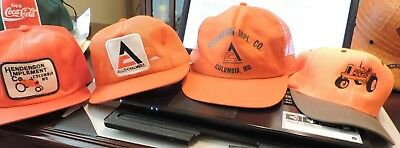 Lot of 4 Allis Chalmers snapback Hats from Estate