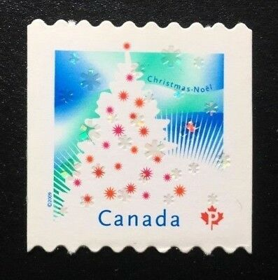 Canada #2344i Die Cut MNH, Christmas Tree Stamp 2009