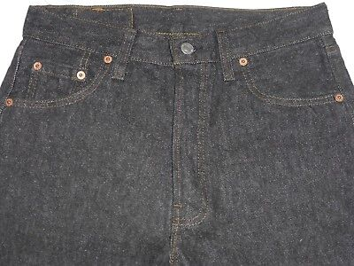 USA MADE LEVI'S DARK DENIM 501 JEANS w 29 1980s CLOTHING RED TAB NEW O/S VINTAGE