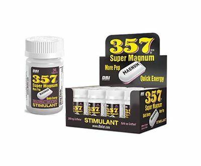 Box 12x Bottles 357 Super Magnum Stimulant - 36 Tablets Energy Weight Fat Burn