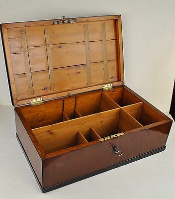 Large Antique 19th. century compartment box Mahogany  (61 x 37 x 22 cm)
