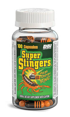 1x Bottle Super Stingers - 24 Capsules - Extreme Energy Weight Loss Fat Burn