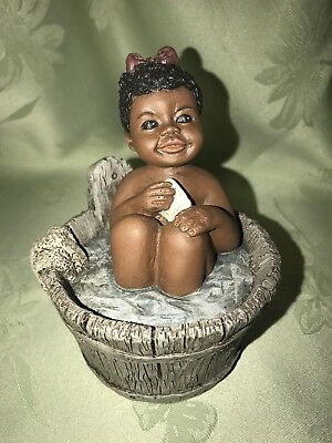 "ALL GODS CHILDREN ""BETSY"" HOLCOMBE FIGURINE #25A W/Certificate Black Americana"