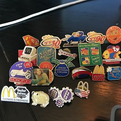 McDonalds Pin Lot Crew Service Advertising Vintage Modern Promotional Pins