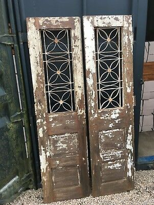 Industrial Vintage Antique Window Wooden Shutters Doors Wardrobe Reclaimed door