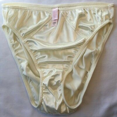 Victoria Secret Second Skin Satin Hipster Panty NWT Vintage Nylon LH-7