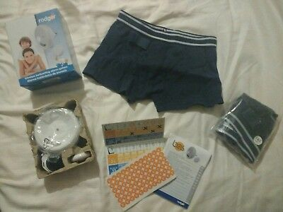 Rodger wireless bed wetting alarm and 2 pairs of boys pants 140cm