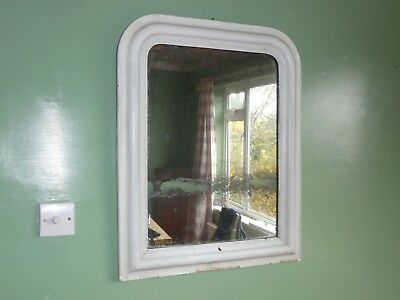 French Vintage/Antique painted mirror with  the original glass