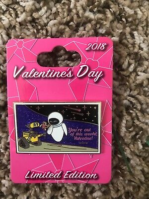 Disney Pin Trading Pixar Wall-E Eve Valentines Day 2018 LE 5000