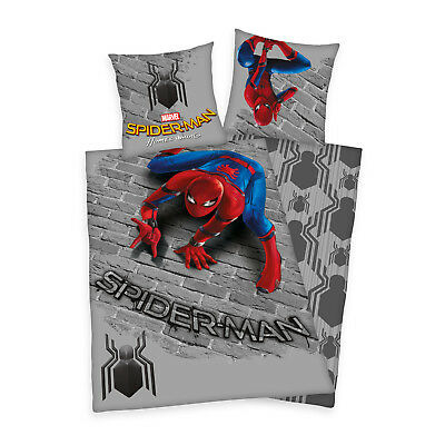 2 tlg. Renforce Kinder Bettwäsche Bettgarnitur 135x200 cm Spiderman Homecoming