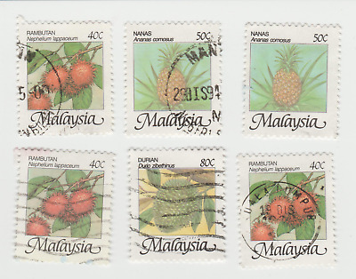 Malaysia - Mixed Selection of Stamps (6) - Used