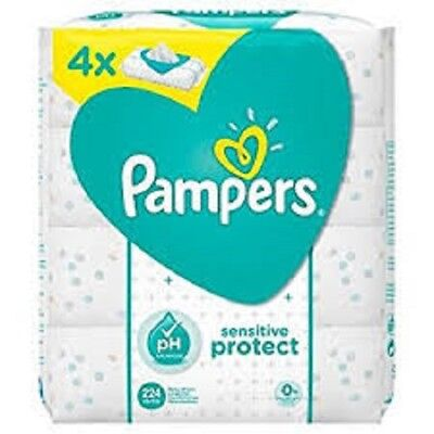 Pampers Sensitive Protect Baby Wipes 4  Packs Wet Wipes 56 Wipes per pack