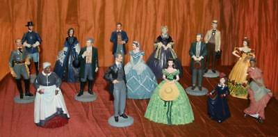 GONE WITH THE WIND FRANKLIN MINT 15 pc SET FIGURINES