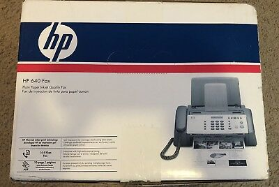 HP 640 Fax Plain Paper Inkjet Quality Machine Copier NEW In Box. Never Opened