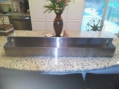 "42"" INFRA Silver Stainless Steel  Commercial Bar Speed Rail Rack"
