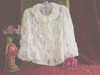Ladies Vintage Special Occasions Hardy Amies Blouse GC.