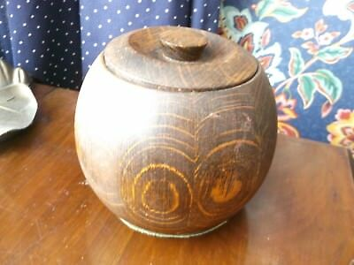 Antique Oak tea caddy with ceramic liner - great condition!!!