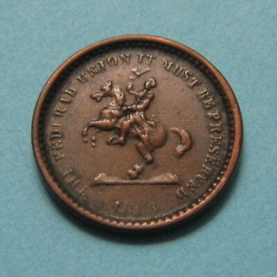 """1863 Civil War Token """"The Federal Union Must be Preserved"""" ✪ F-178/267 ✪ AF0415"""