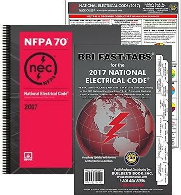 Nfpa 70 Nec Code Book Spiralbound Fast Tabs And Quick Card