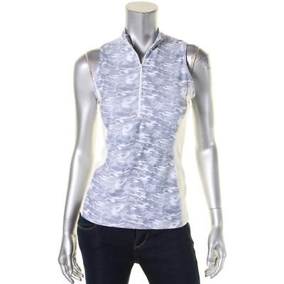 Prismsport 4409 Womens Gray Camouflage Stretch Shaping Tank Top Athletic S BHFO