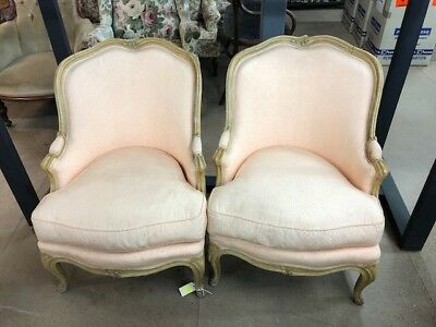Antique Pink Upholstered Armchairs