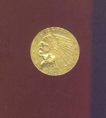 1911 Gold $2.50 Indian From W.W. 2 U.S. Army Air Corps Pilot Pack, Free USA Ship