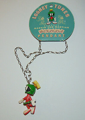 1994 Marvin The Martian Moveable Pendant Looney Tunes, New On Tag, Old Stock