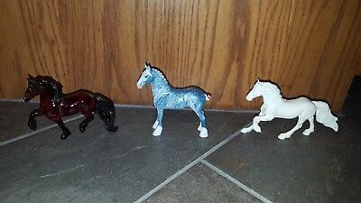 Breyer Reeves Red Horse Peter Stone? Miniature Horses THREE LOT NO RESERVE RARE?
