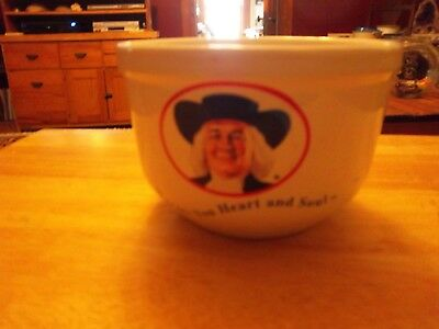 """vintage quaker oatmeal bowl """"warms your heart and soul"""