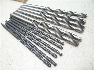 """New Lot Of 12 Hss Straight & Tang Shank Letter Drills """"c"""" & """"z"""" Superior Ptd"""