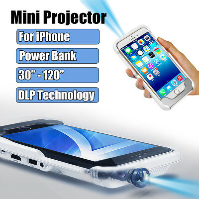 Mini Portable DLP LED Mobile Projector Home Cinema for iPhone 5 6 6s 7 8 Plus X