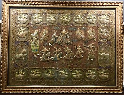 Genuine Antique Burmese Tapestry 1650mm X 1210mm