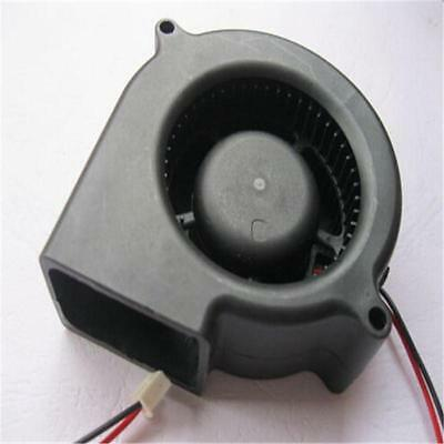 Black Brushless DC Cooling Blower Fan 2 Wires 5015S 12V 0.12A 50x15mm GY