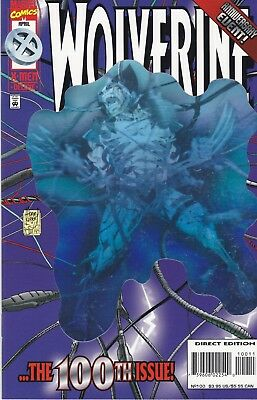 Wolverine #100 NM Holographic Cover (Apr 1996, Marvel)