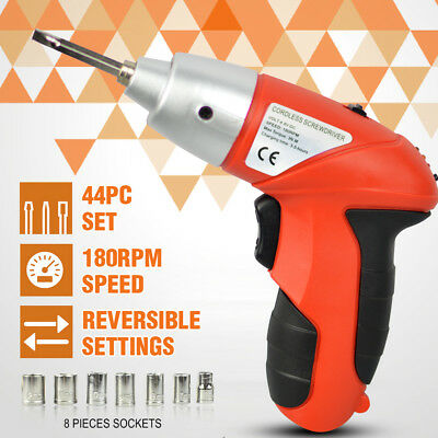 45 Pieces 4.8V Cordless Screwdriver Drill Driver Set Rechargeable Electric Drill