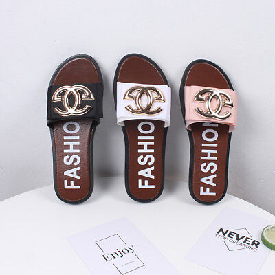 40fb946bb69f Fashion Women Summer Slippers Flip Flops Flat Sandals Beach Shoes US Size 5- 9