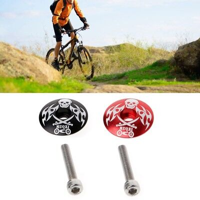 Mountain Bikes Stem Top Cap Cover Headset Screws Bicycle Cycling Accessories Set